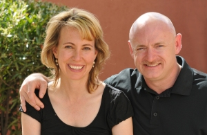 Captain Kelly and wife Gabrielle Giffords