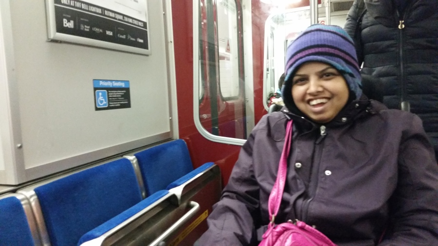 LIFE Toronto participant, Sraddha on Subway
