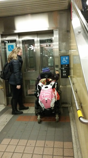 LIFE Toronto participant, Sraddha showing accessibility in TTC locations