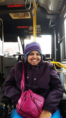LIFE Toronto participant, Sraddha using bus transit