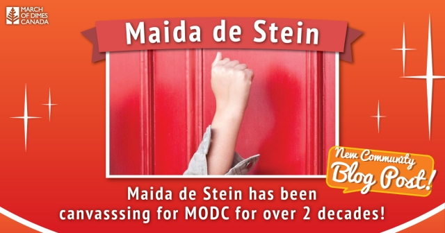 """Maida de Stein has been canvassing for MODC for over 2 decades!"""