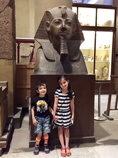 Malic and his sister at the museum!